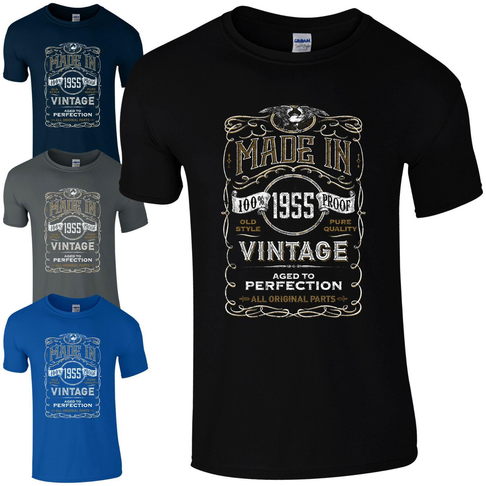 Made In 1955 All Original Parts 64Th Birthday Gift Present Mens T Shirts