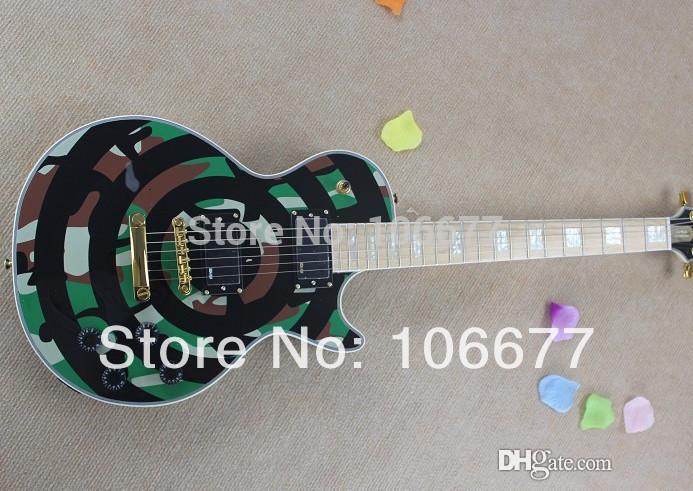 Llegada libre del envío de la tienda de Wylde camuflaje color de la guitarra eléctrica de oro de hardware En Stock