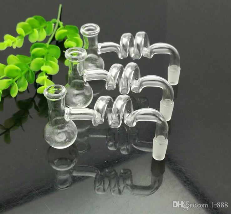 Transparente en forma de T espiral bote de vidrio bongs de vidrio fumadores de pipa de agua Rig Tubos de petróleo Burn cuencos de cristal de petróleo