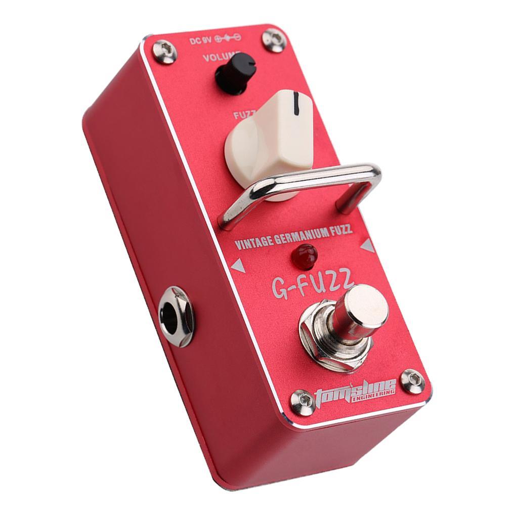 Алюминиевый сплав гитара G-пуха старинные Германий Пух эффекта красных 9х3.8х4.8см
