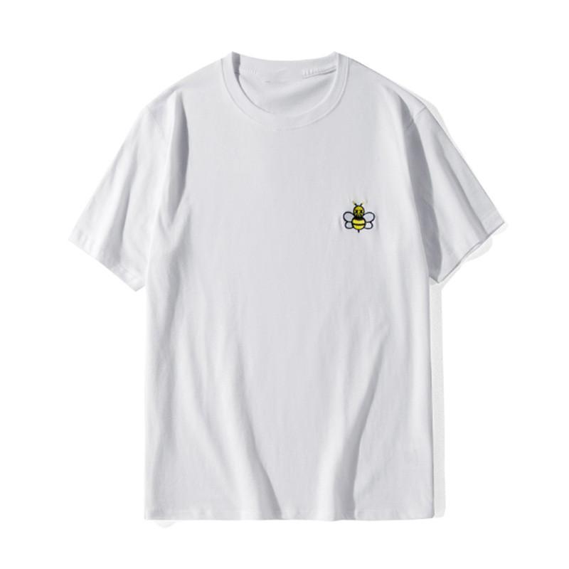 19SS Hommes T-shirt de haute qualité Hommes Femmes Couples Casual manches courtes pour hommes T-shirts col rond noir blanc