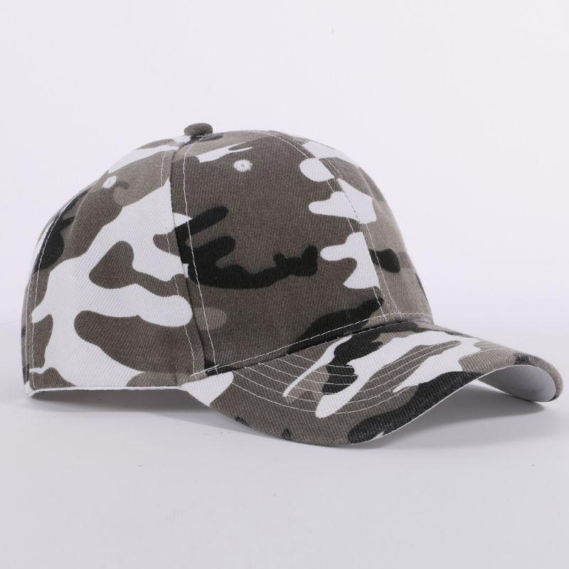 Hombres Mujeres Senderismo Caps camuflaje La mitad del acoplamiento del Ejército deporte del sombrero del casquillo del desierto de la selva Snap Camo Gorra