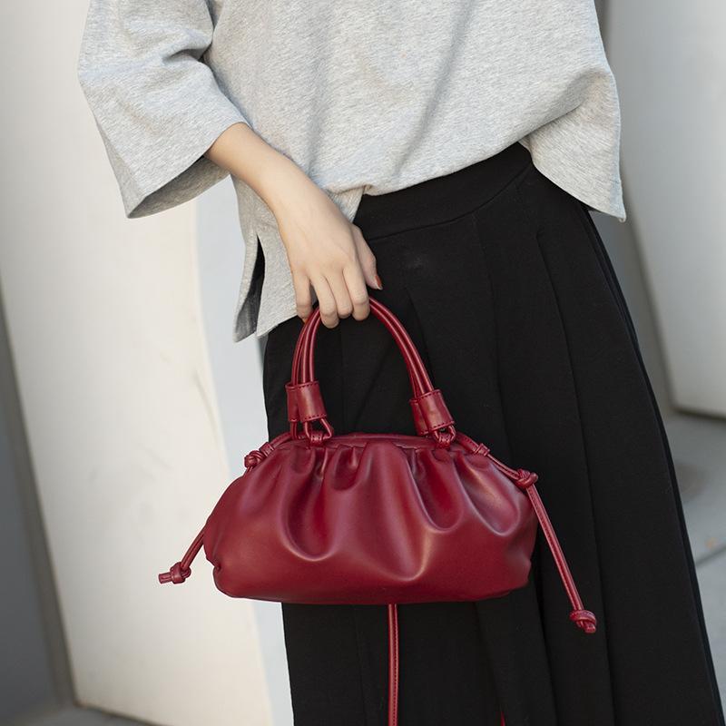 Diseñador de las mujeres bolsos de hombro de masa hervida bolsa pequeña K hombro zancudo bolso Blanco Marrón Rojo Negro agradable de la calidad