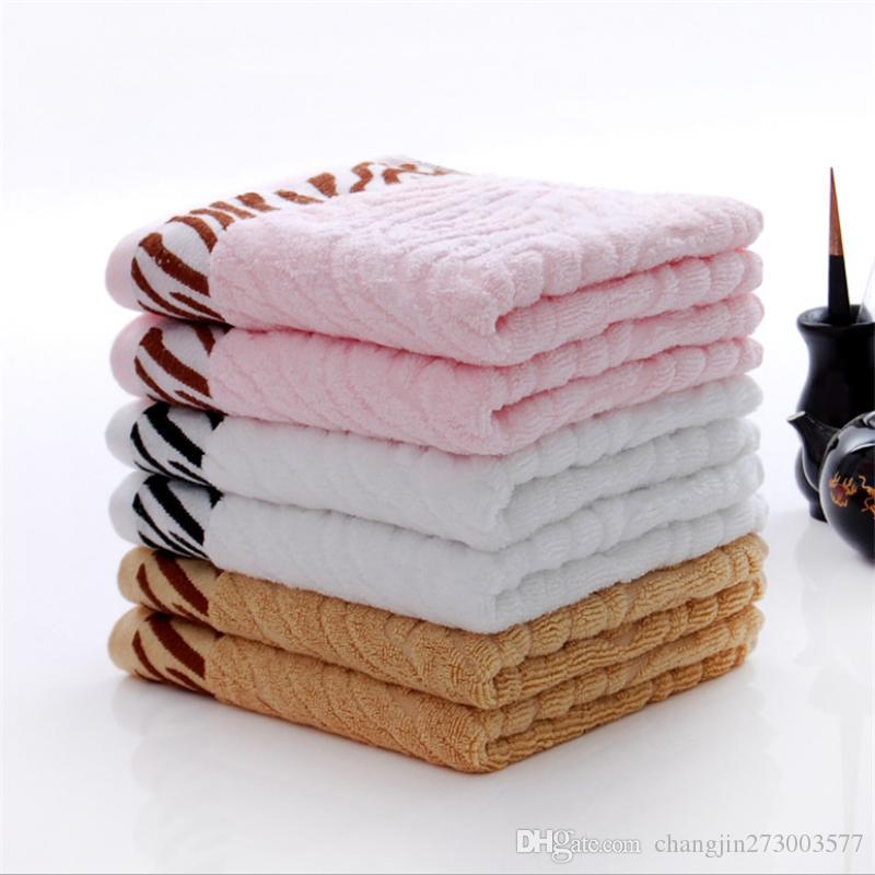 Fibra de bambu jacquard tigre pele toalha, presente premium toalha, fabricante de toalha atacado