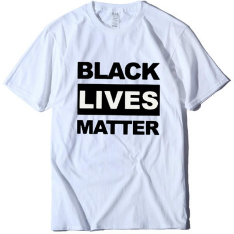 Womens Fashion Tshirt BLACK LIVES MATTER Casual Street T-shirts Life Is Important T-shirt Short Sleeve Tops 2020 Wholesale for Unisex