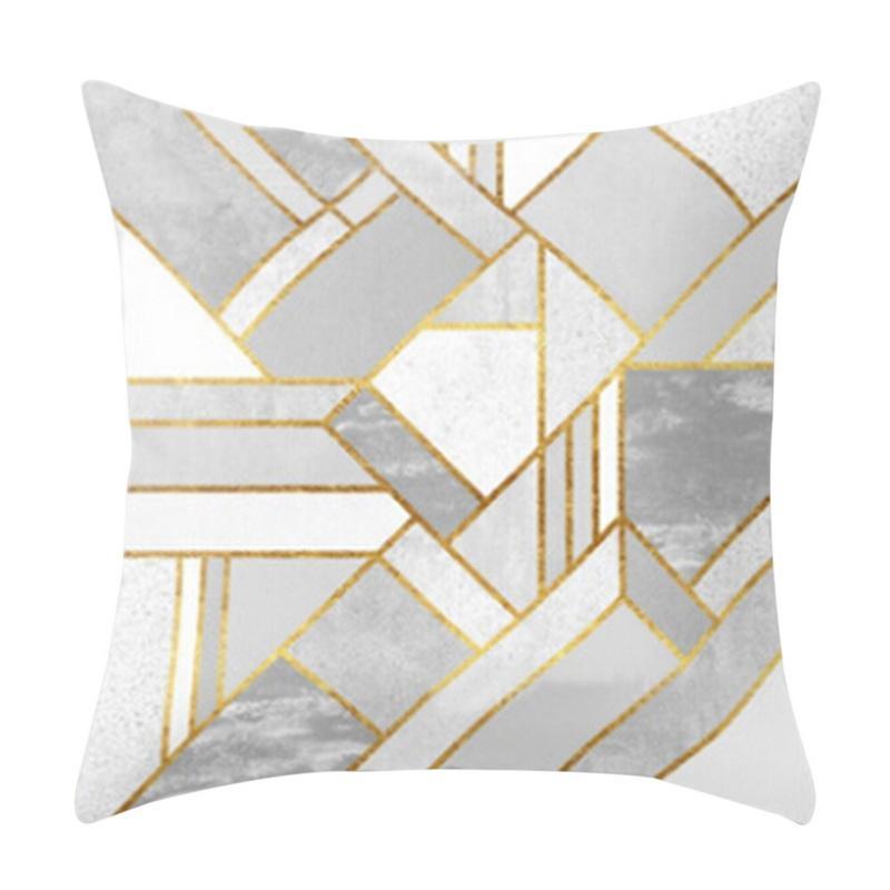 Alfabeto de Natal New geométrica Impresso Praça Peach Suede Ouro Brilhante Padrão Throw Pillow Case New Home Decor 1pc