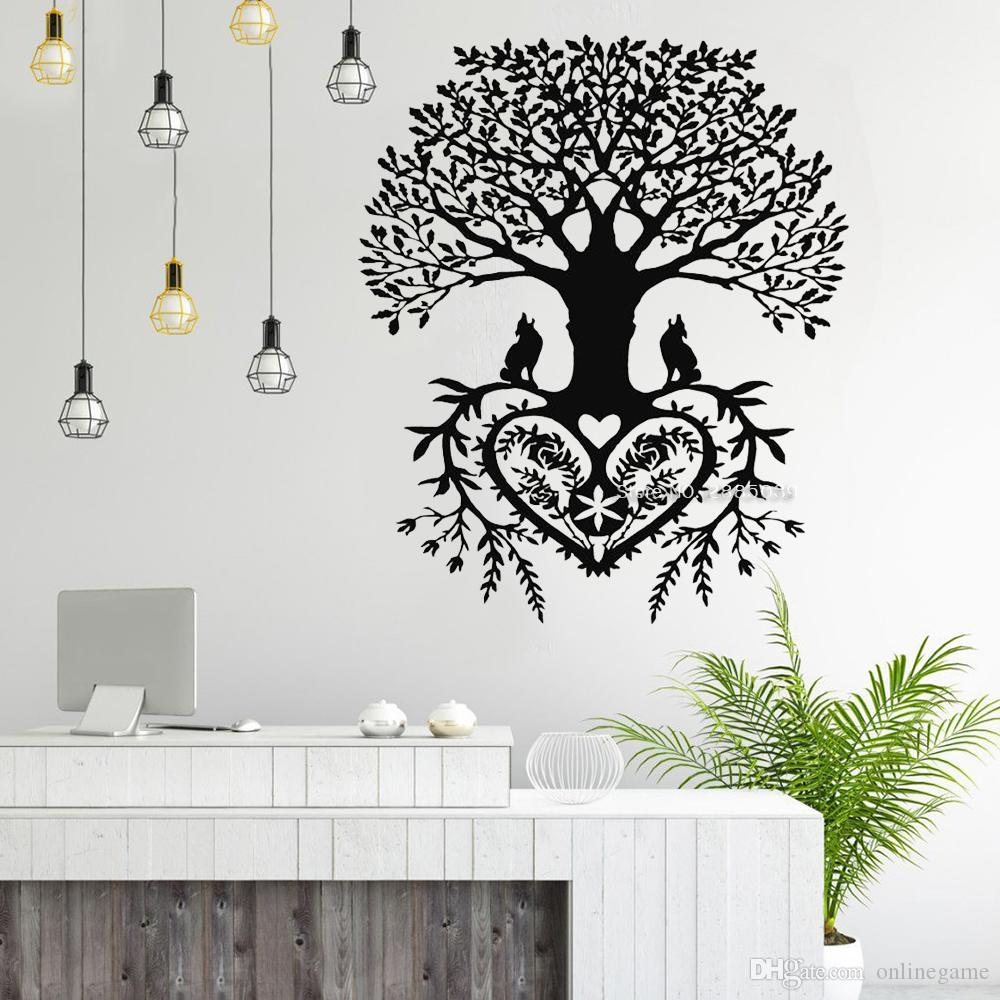 Tree Of Life Wall Stickers Decal Tribal Circle Of Life Roots