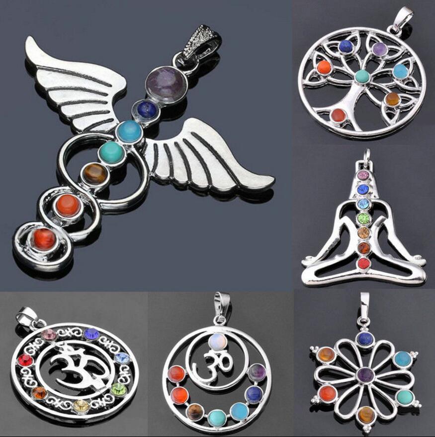 Мода 6 Смола Кварц Шестигранная Маятник Чакра Исцеление Драгоценный Камень Кулон Для Ожерелья
