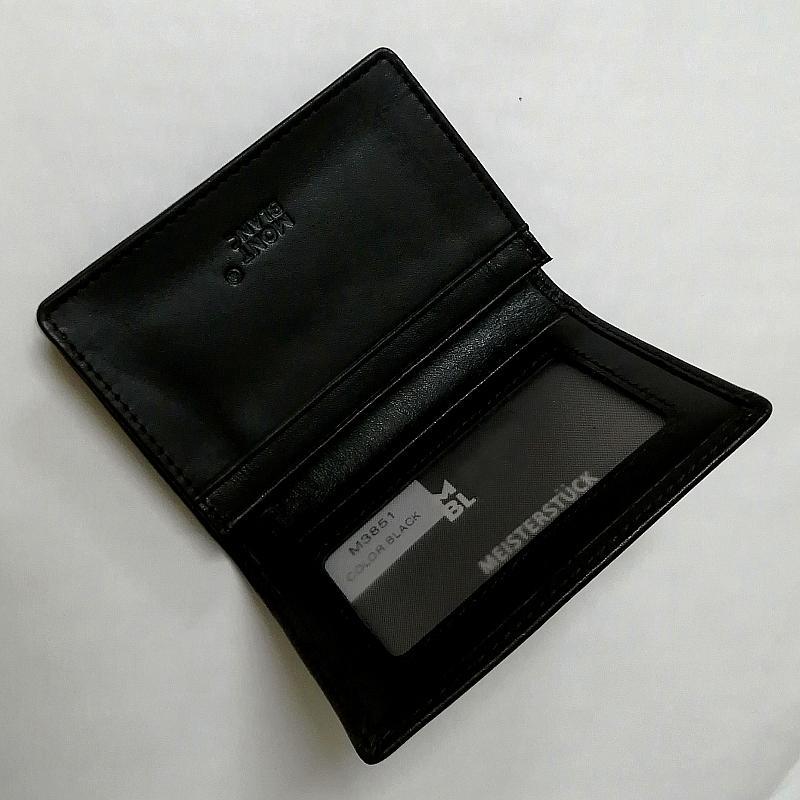 100% Véritable peau de vache portefeuille luxe MB marque noire Carte de crédit en cuir Wallet MINI Porte-monnaie - Homme de haute qualité shirt Cufflinks Cuff link