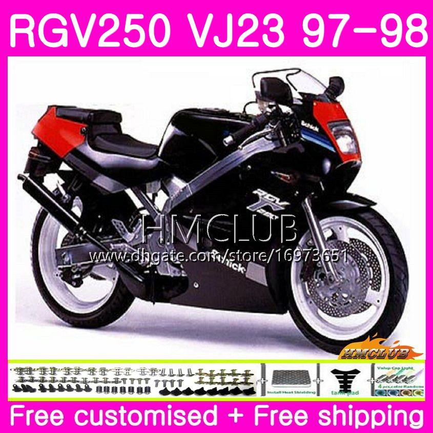 Bodys For Suzuki SAPC RGV-250 VJ22 VJ21 RGV 250 97 98 99 Frame Gloss black 19HM.44 RVG250 VJ23 RGV250 VJ 21 22 23 1997 1998 Fairing