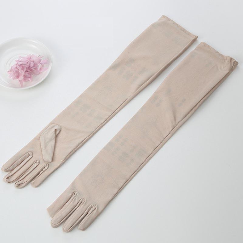 45cm / 55cm sexy elastico Spandex lunghi Finger Gloves signora Women Guanti accessori Abito Dance Show partito