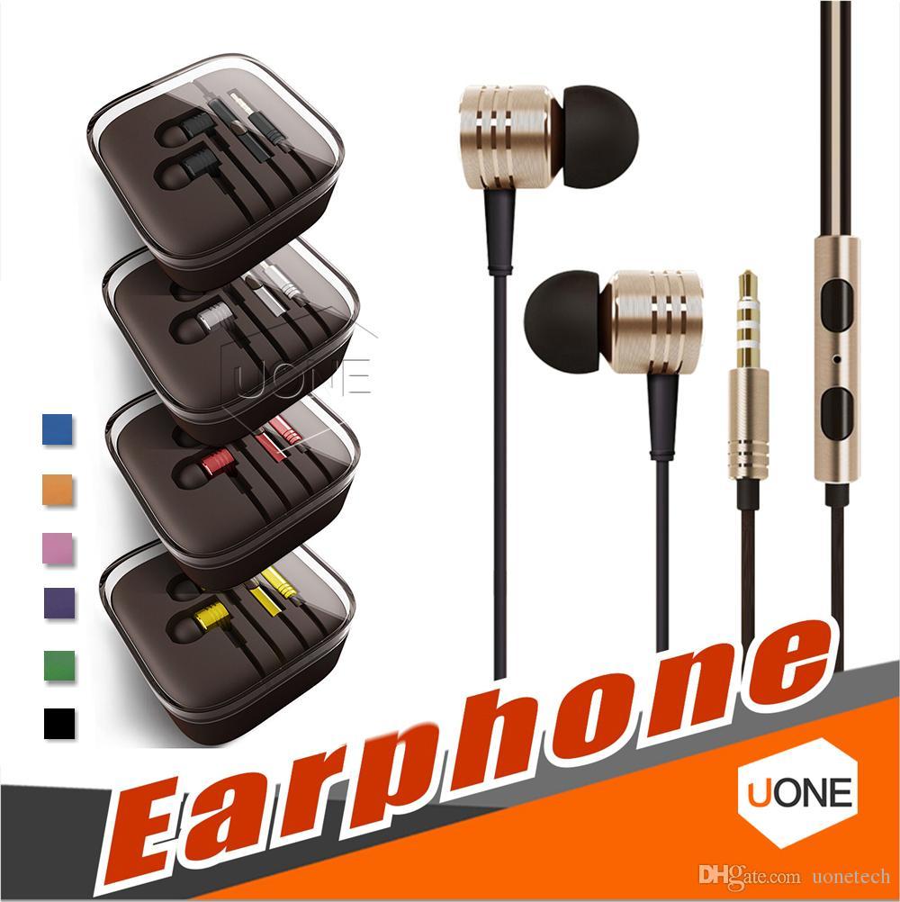 Universal 3,5 mm Metal İçin Bluetooth Kulaklık Kulaklık ile Mikrofon Stereo Kulak Kulaklık için Iphone 11 yanlısı Samsung Tablet MP3 / 4 Tüm Cep telefonu