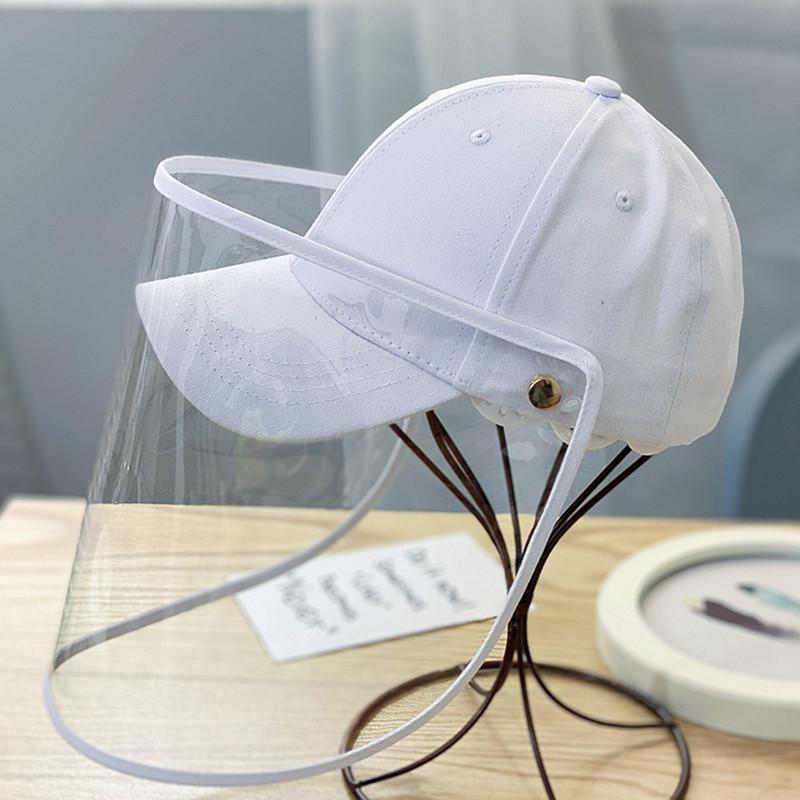 Abnehmbare Anti-Spucken Gesicht-schützende Abdeckung Hut Kinder im Freien Solid Color Cap Hot Spritzwassergeschütztes Helm Hut