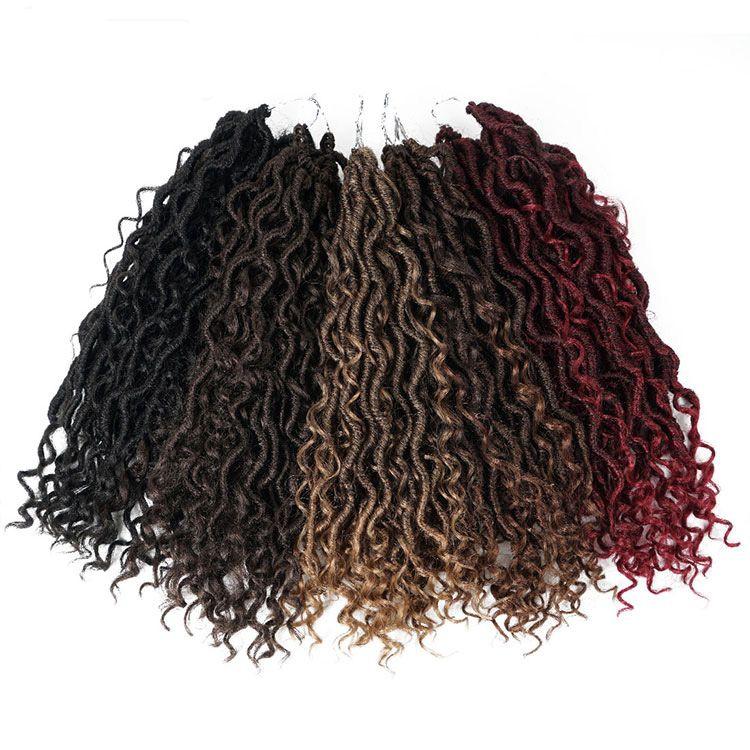 """14 """" synthétique Twist Tresses Cheveux déesse Locs crochet Extensions de cheveux rivière Locs crochet tresses pour les femmes"""