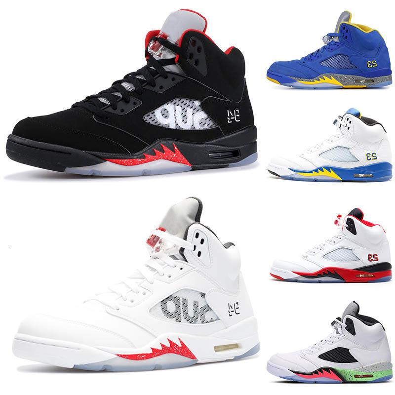 Горячий Новый 5 5s крылья свежий принц мужская баскетбольная обувь красный синий замша белый черный виноград мужчины спортивные кроссовки дизайнер тренеры США 7-13
