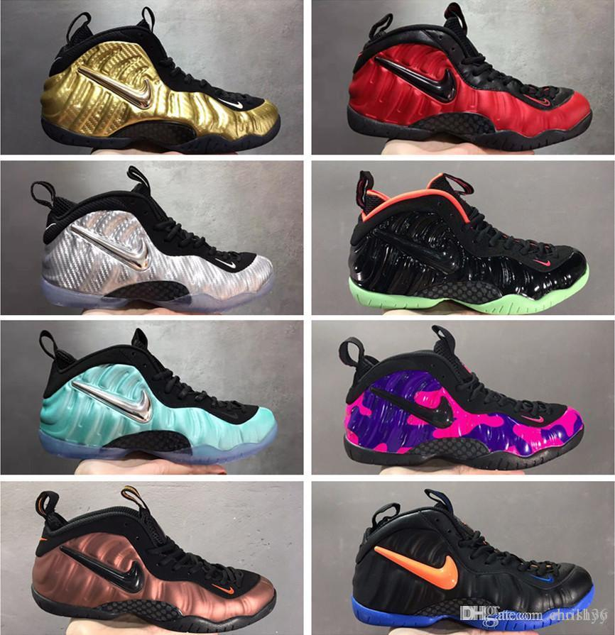 Air Pro Shooting Stars Habanero Red Metallic ouro Penny Hardaway Basketball Shoes CNY espuma Alternate Olympic Sports Sneakers