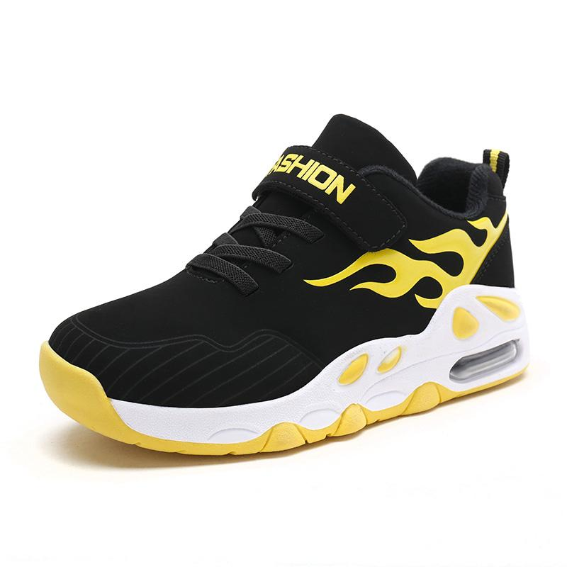 2018 New Style Air Sole Basketball Shoes for Kids Boys Girls Outdoor Sneaker Children's Sport Shoes PU Leather Cushion Trainers