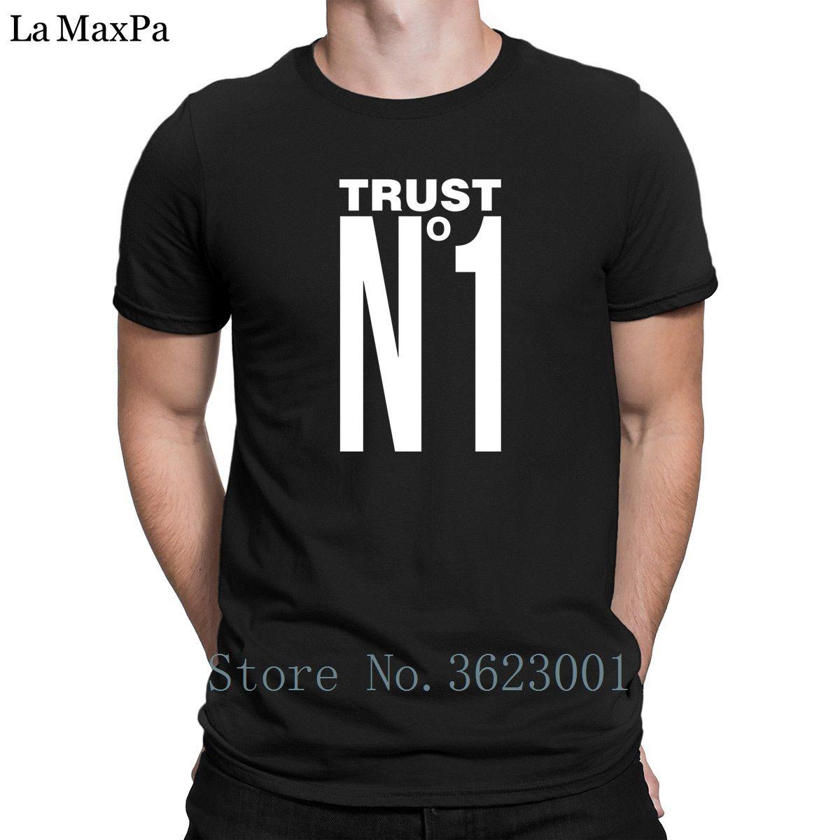 Impreso nueva llegada Camiseta Confianza nadie camiseta de la diversión del estilo del verano Camiseta para hombre de Hip Hop camiseta de los hombres Fotos 100% algodón