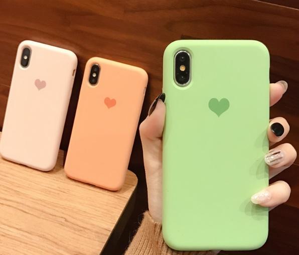 coque iphone xr silicone orange