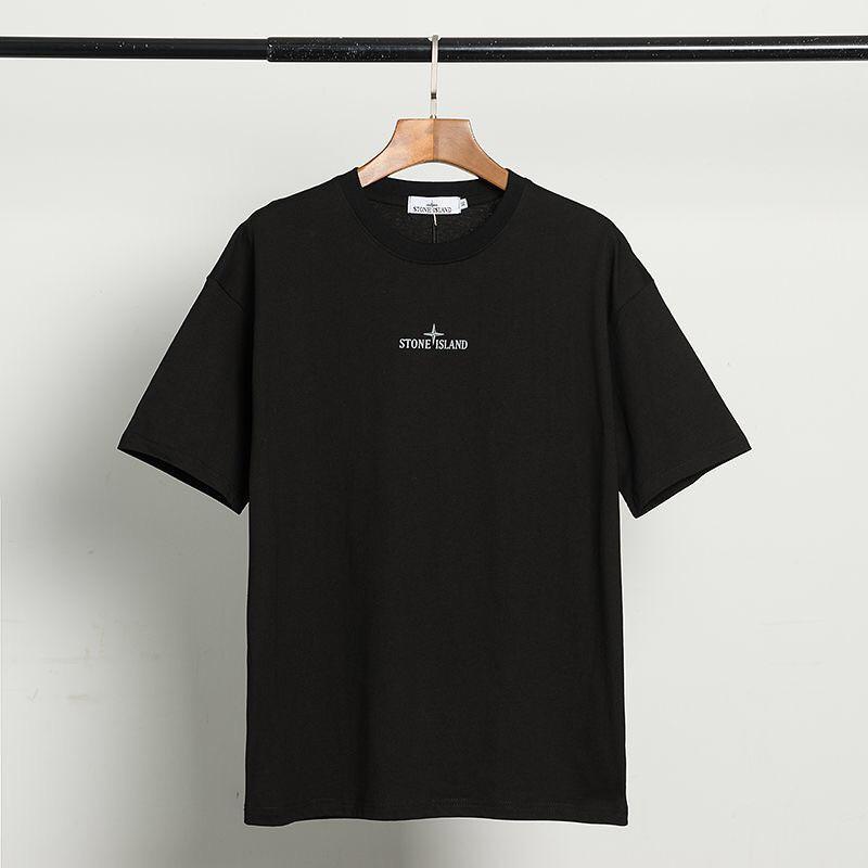 2020 populares logotipo de la ropa de los hombres nueva camiseta impresa alrededor del cuello de la blusa de la juventud artística camiseta W11