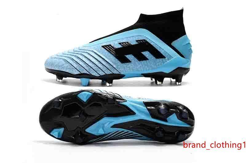 Predator Nouveau 2019 Predator 19 FG39-45 Pp Paul Pogba Hommes 19 Football Chaussures de football 19 x Crampons Bottes Haute