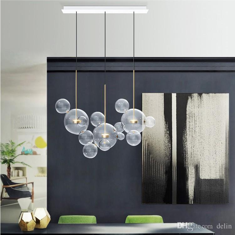 Moderna Bolle lampada a sospensione in vetro paralume Bubble sospensione per la luce di Parlour Ferro Pendente lucentezza industriale industriel 90-265V