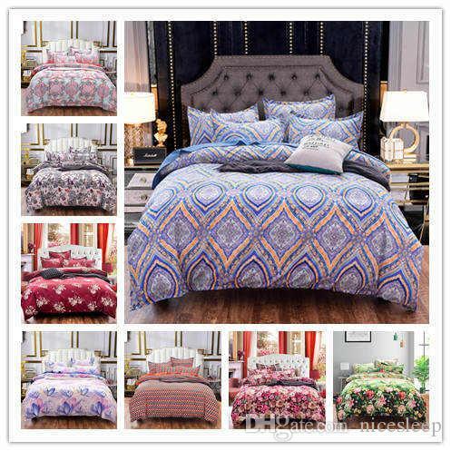 3D Moderner Luxus und wunderschöne Bettwäsche chinesische Stil Druck setzen weich und bequem Bettbezug Bettwäsche Set Voll Twin Einzel Größe