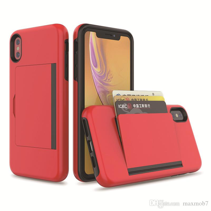 For iPhone 11 PRO 12 SE 2020 Xs Max Xr X 8 7 6S PLUS Case Cell Phone Back flip Cover with Credit Card Slots
