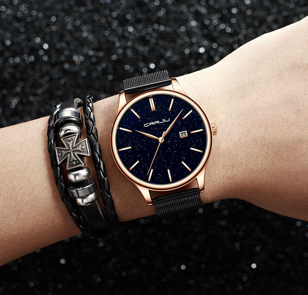 2020 Nova Moda Crrju Marca Relógios Rosa Relógios De Ouro Relógios Mulheres Senhoras Vestido Casual Quartz WristWatch Reloj Mujer