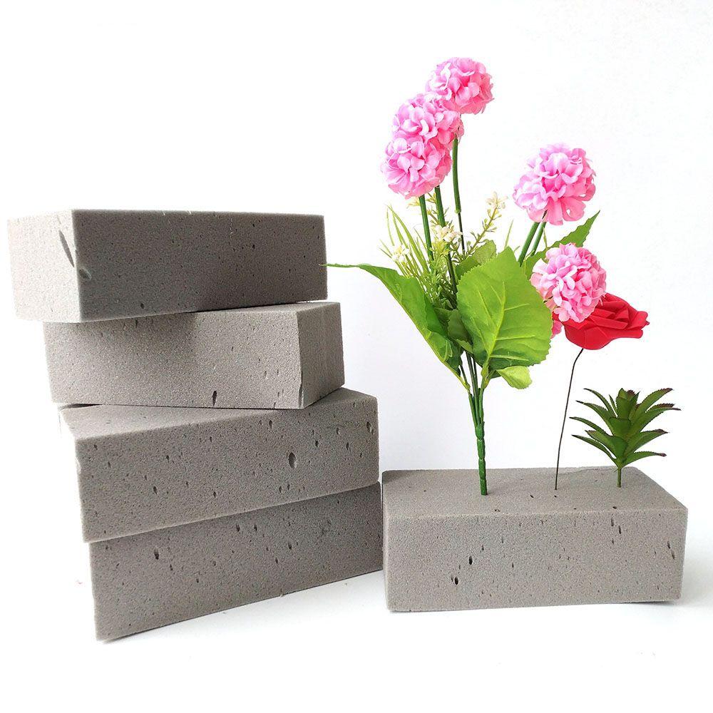 1 قطع النباتات وعاء الاصطناعي رغوة لا يمكن امتصاص الماء زهرة الطين مع زينة الزفاف زهرة حامل diy زهرة ترتيب