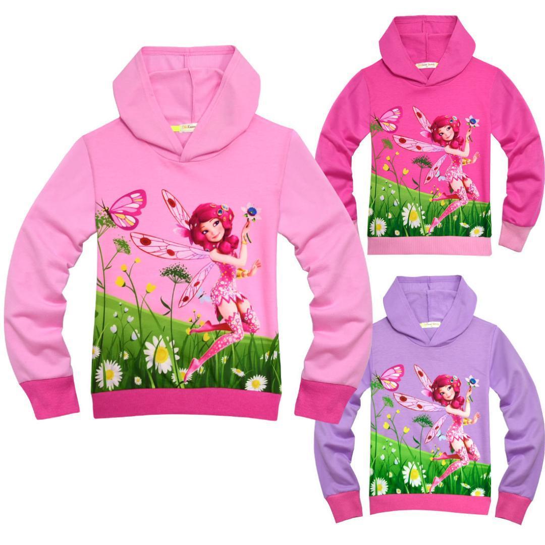 Suéter con capucha para niños Niñas Hit Color Rib Ropa para niños Sudadera para niña Sudadera con capucha para bebés Mia and Me Sudadera con capucha para niños