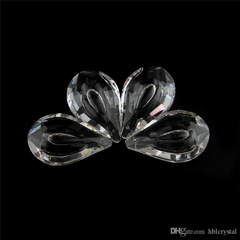 I prismi di cristallo nuovi di forma di Pipa di 50mm 10pcs trasparenti per le luci domestiche della camera da letto sono trasporto libero decorativo