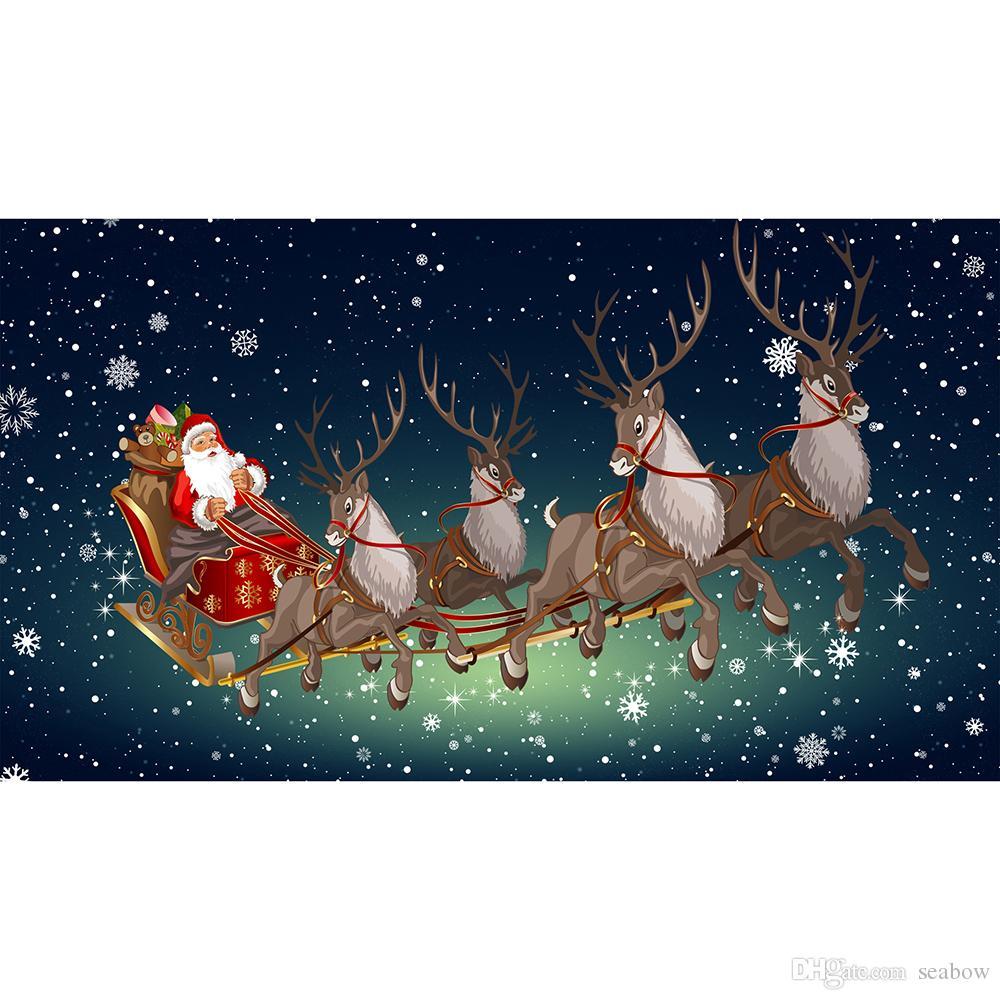Heiße Verkaufs-Weihnachts Flagge Frohe Weihnachten Fliegen Dekoration 3x5 FT Banner 90x150cm Festival-Party-Geschenk 100D Polyester Printed Heißer Verkauf!