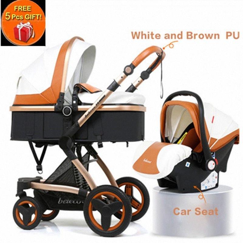 Belecoo multifuncional cochecito de bebé 2 en 1 carro alto paisaje del cochecito de niño Suite para La mentira y de estar con 5 regalos kGqb #