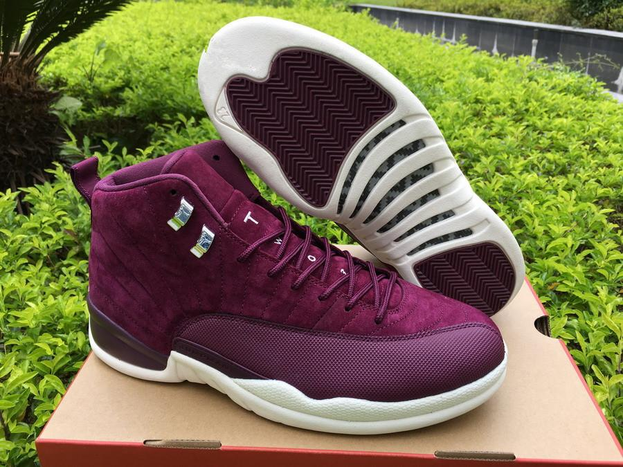 12 12s Bordeaux Hommes Chaussures de basket Vente chaude XII Vin rouge Sport Sneaker Avec haute qualité Taille EU40-47