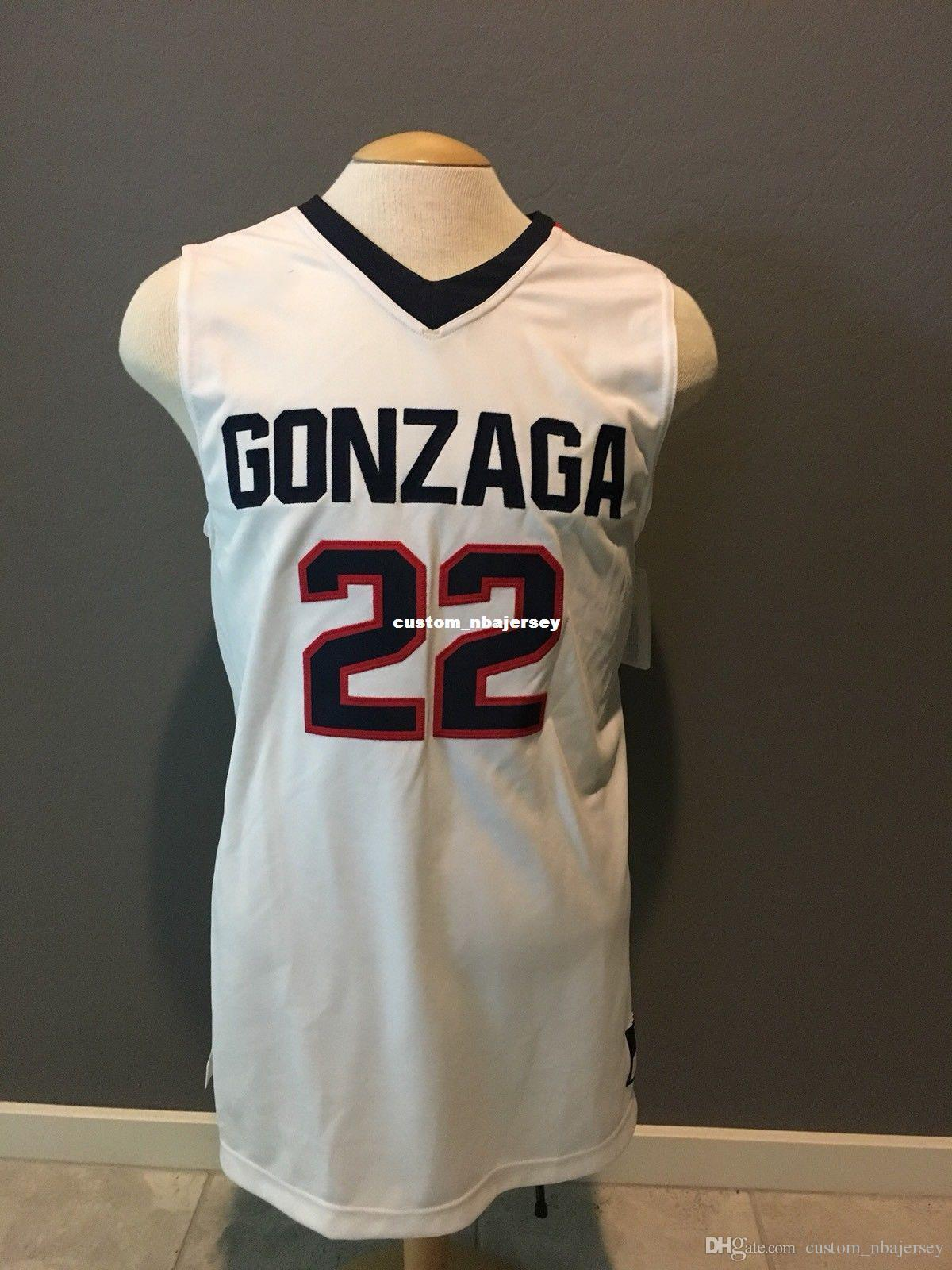 barato costume NOVO Gonzaga Bulldogs Basketball Jersey costurado Personalizar qualquer nome número HOMENS MULHERES JOVENS XS-5XL