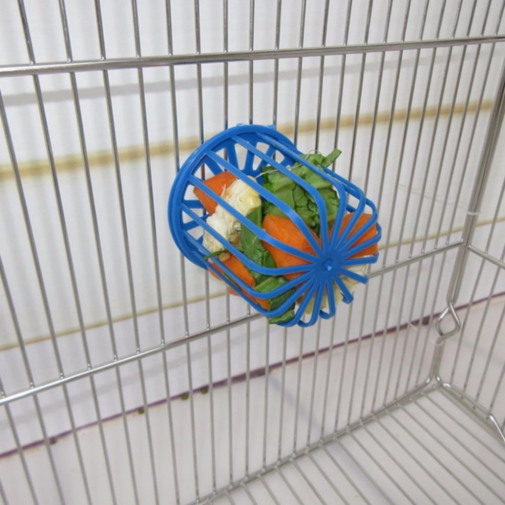 2 Pcs Hanging Pet Feeder Basket Toy for Birds Parrot Cockatiels