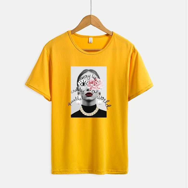 Nuovo arrivato estate Mens delle magliette delle donne con cute modello di moda casual manica corta da uomo Tee shirts Top Formato più