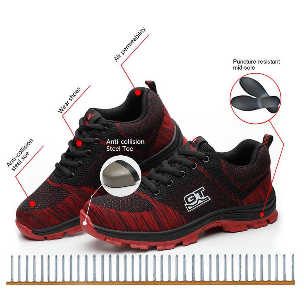 Vendita calda-Scarpe da lavoro traspiranti da lavoro da uomo Stivali indistruttibili con punta in acciaio Scarpe da arrampicata da trekking traspiranti di moda