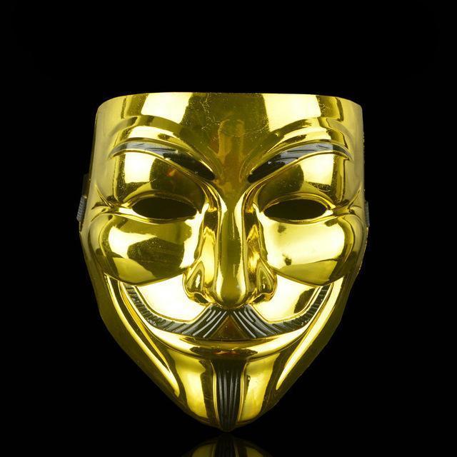 1PCS Partido Máscaras V de Vendetta máscara máscaras de Guy Fawkes Anónimo de lujo del partido de Halloween cosplay accesorios