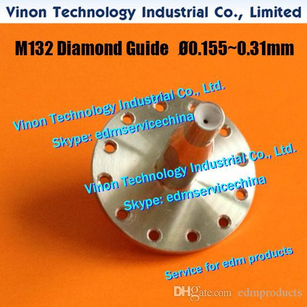 Guia de cabo M132 Ø0.205mm X053C834G53 Superior para Mitsubishi SX.SB.SZ.CX.FX.FA máquina X056C833G54, DA766A, DA76600, DU31000 guia de matriz edm (U)