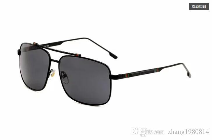 브랜드 남성 빈티지 스퀘어 선글라스 렌즈 안경 액세서리 남성 일 안경 남성 여성 악어 1035