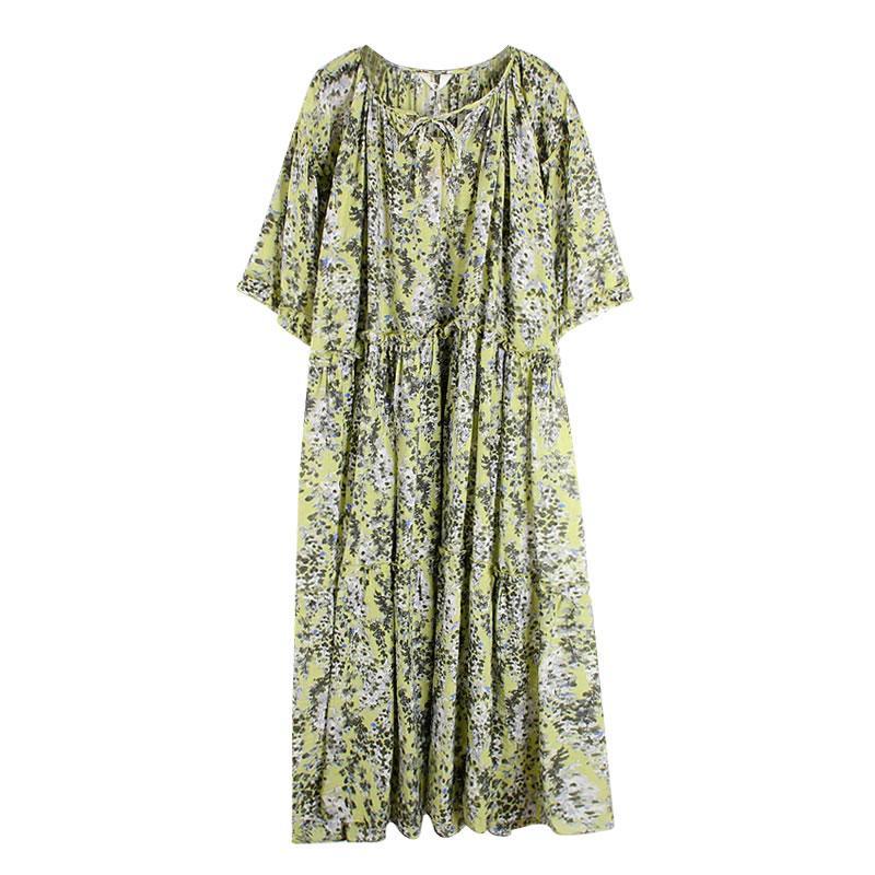 Vestido de mujer plisado moda nueva mujer 2020 primavera elegante pequeño fresco pulóver con cordón estampado diosa ventilador V906
