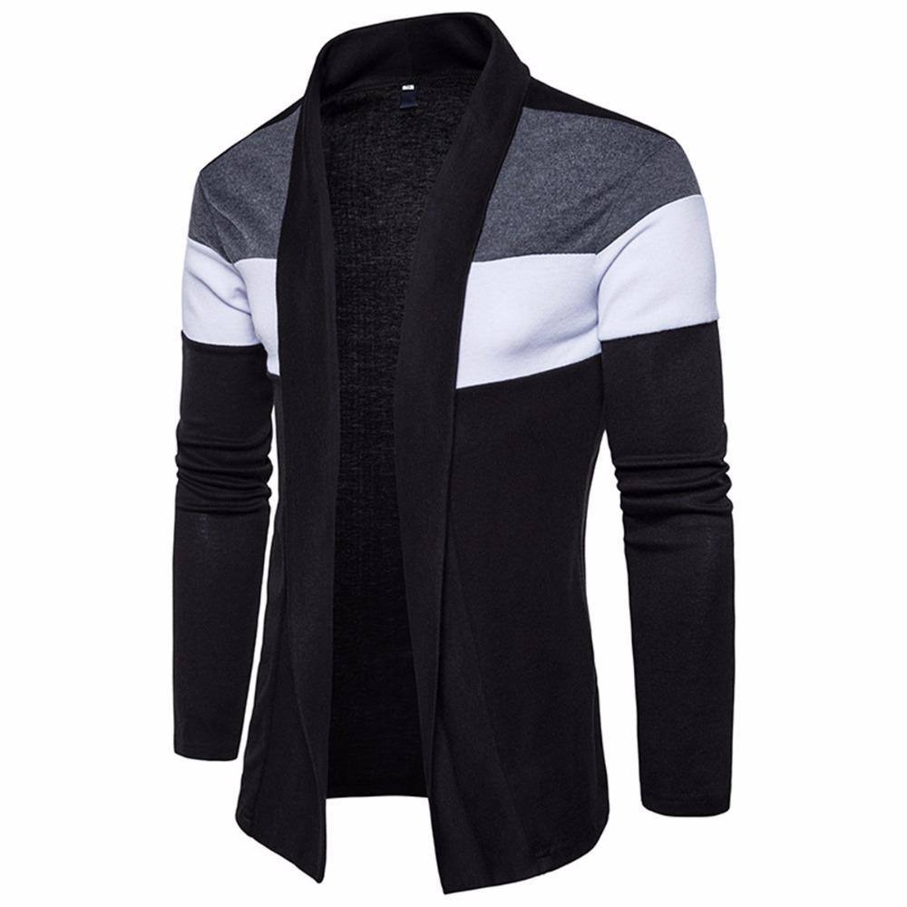 Envmenst novíssimo camisola de algodão luva longa dos homens Cardigan Mens V-Neck Camisolas Sólidos Fit Roupa Homens de Estilo