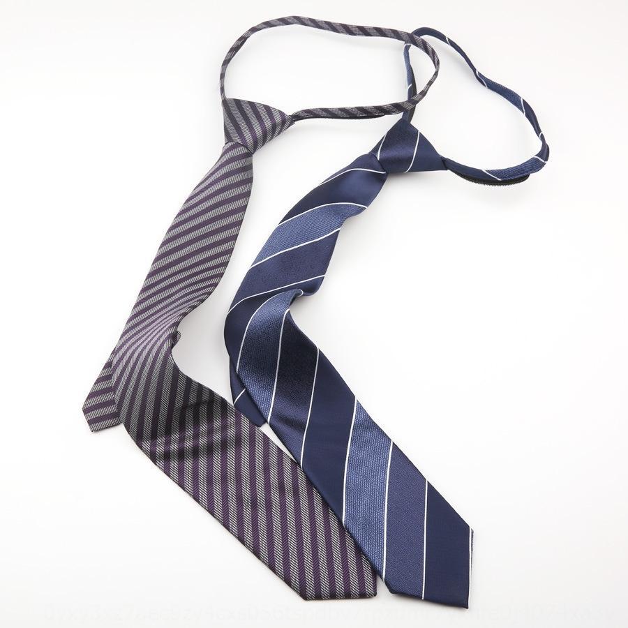 Zipper 7CM tie men's group business wear formal wear business hotel bank security easy to work lazy zipper zipperstyle
