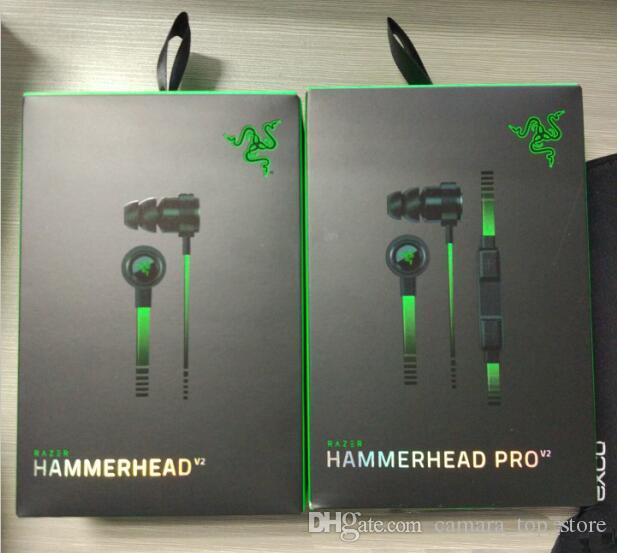 Wireless Razer Hammerhead V2 Bluetooth Headphones Wireless in ear earphones With Microphone With Retail Box In Ear Gaming headsets