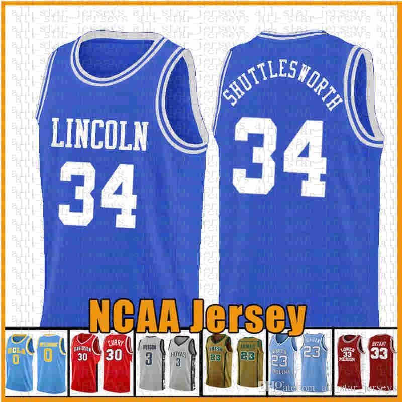 34 Gesù Navette-pena Ray Allen Lincoln film 14 Will Smith 25 Carlton Banks pallacanestro Jersey Amore 22 McCall NCAA dss