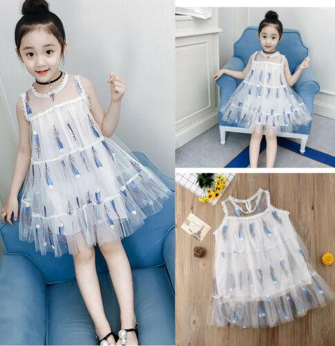 Toddler Embroidery Feather Girl Tutu Dress Gypsy Tulle Pageant Dress Clothes