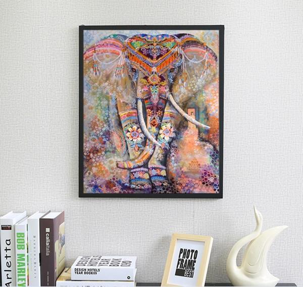새로운 DIY 5D 다이아몬드 그림 코끼리 스틱 드릴 크로스 스티치 장식 그림 자수