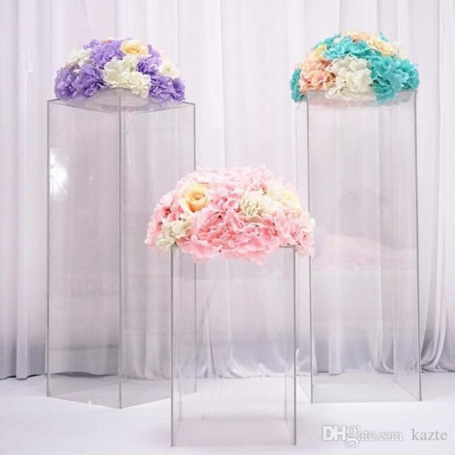 Luxury clear vase acrylic Stand flower Bouquet stands wedding Centerpieces Window craft display aisle road leads wedding flowers backdrops
